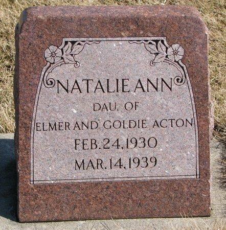 ACTON, NATALIE ANN - Burt County, Nebraska | NATALIE ANN ACTON - Nebraska Gravestone Photos