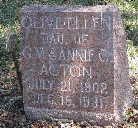 ACTON, OLIVE ELLEN - Burt County, Nebraska | OLIVE ELLEN ACTON - Nebraska Gravestone Photos