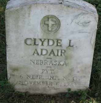 ADAIR, CLYDE L. - Burt County, Nebraska | CLYDE L. ADAIR - Nebraska Gravestone Photos