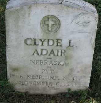 ADAIR, CLYDE L. - Burt County, Nebraska   CLYDE L. ADAIR - Nebraska Gravestone Photos