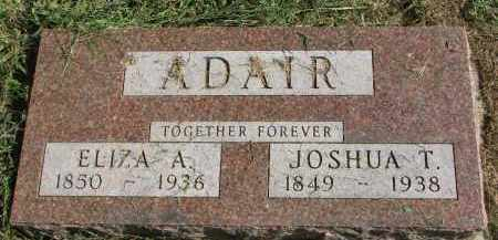 ADAIR, JOSHUA T. - Burt County, Nebraska | JOSHUA T. ADAIR - Nebraska Gravestone Photos