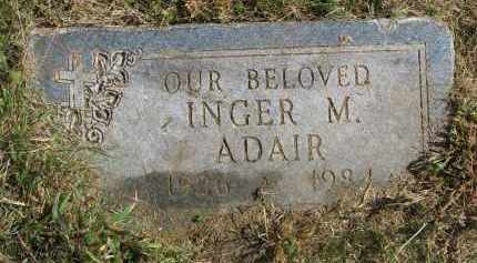 ADAIR, INGER M. - Burt County, Nebraska | INGER M. ADAIR - Nebraska Gravestone Photos