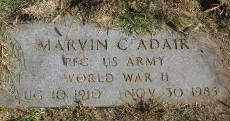 ADAIR, MARVIN C. - Burt County, Nebraska | MARVIN C. ADAIR - Nebraska Gravestone Photos
