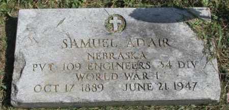 ADAIR, SAMUEL - Burt County, Nebraska | SAMUEL ADAIR - Nebraska Gravestone Photos