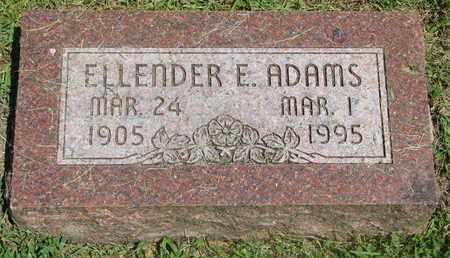 ADAMS, ELLENDER E. - Burt County, Nebraska   ELLENDER E. ADAMS - Nebraska Gravestone Photos