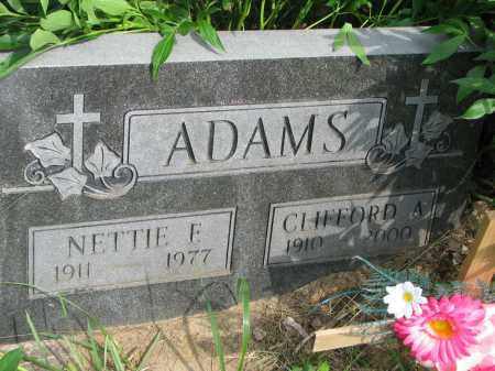 ADAMS, NETTIE F. - Burt County, Nebraska | NETTIE F. ADAMS - Nebraska Gravestone Photos