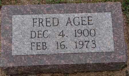 AGEE, FRED - Burt County, Nebraska | FRED AGEE - Nebraska Gravestone Photos
