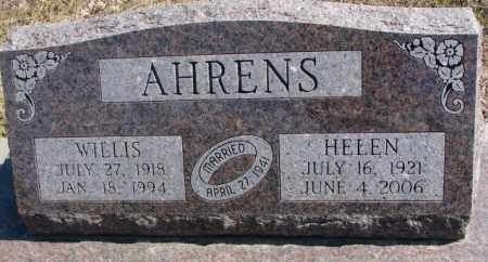 AHRENS, WILLIS - Burt County, Nebraska | WILLIS AHRENS - Nebraska Gravestone Photos