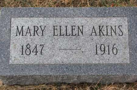 AKINS, MARY ELLEN - Burt County, Nebraska | MARY ELLEN AKINS - Nebraska Gravestone Photos