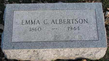 ALBERTSON, EMMA C. - Burt County, Nebraska   EMMA C. ALBERTSON - Nebraska Gravestone Photos