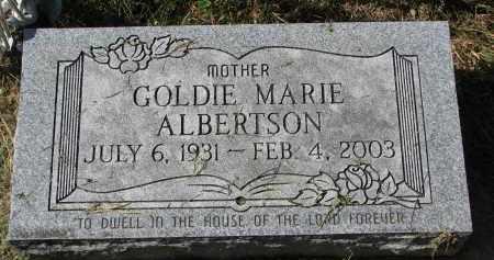 ALBERTSON, GOLDIE MARIE - Burt County, Nebraska | GOLDIE MARIE ALBERTSON - Nebraska Gravestone Photos