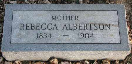 ALBERTSON, REBECCA - Burt County, Nebraska | REBECCA ALBERTSON - Nebraska Gravestone Photos