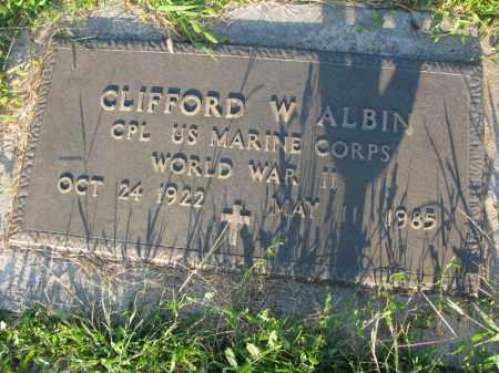 ALBIN, CLIFFORD W. (MILITARY MARKER) - Burt County, Nebraska   CLIFFORD W. (MILITARY MARKER) ALBIN - Nebraska Gravestone Photos