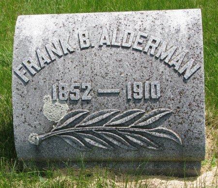 ALDERMAN, FRANK B. - Burt County, Nebraska | FRANK B. ALDERMAN - Nebraska Gravestone Photos