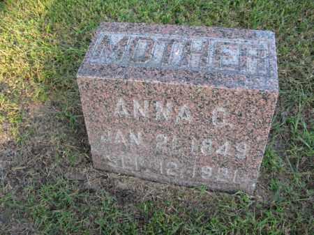 ALEXANDER, ANNA C. - Burt County, Nebraska   ANNA C. ALEXANDER - Nebraska Gravestone Photos