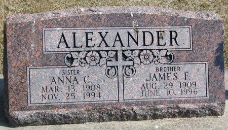 ALEXANDER, JAMES F. - Burt County, Nebraska | JAMES F. ALEXANDER - Nebraska Gravestone Photos