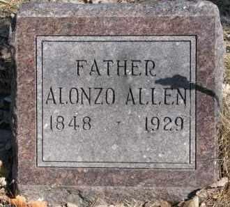 ALLEN, ALONZO - Burt County, Nebraska | ALONZO ALLEN - Nebraska Gravestone Photos