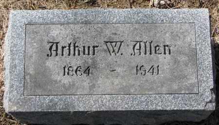ALLEN, ARTHUR W. - Burt County, Nebraska | ARTHUR W. ALLEN - Nebraska Gravestone Photos