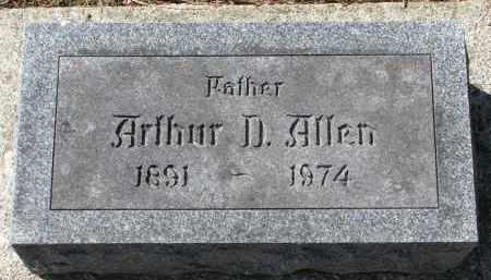 ALLEN, ARTHUR D. - Burt County, Nebraska | ARTHUR D. ALLEN - Nebraska Gravestone Photos