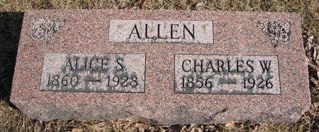 ALLEN, CHARLES W. - Burt County, Nebraska | CHARLES W. ALLEN - Nebraska Gravestone Photos