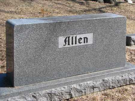 ALLEN, FAMILY STONE - Burt County, Nebraska | FAMILY STONE ALLEN - Nebraska Gravestone Photos
