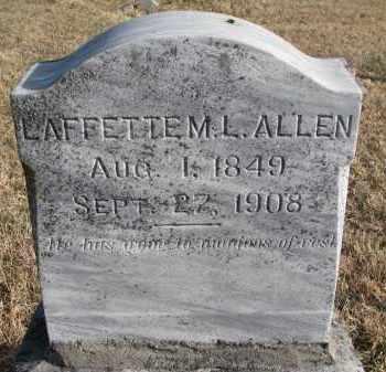 ALLEN, LAFFETTE M.L. - Burt County, Nebraska | LAFFETTE M.L. ALLEN - Nebraska Gravestone Photos
