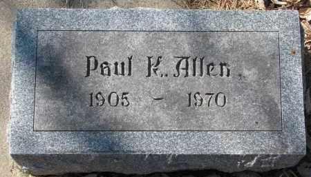 ALLEN, PAUL K. - Burt County, Nebraska | PAUL K. ALLEN - Nebraska Gravestone Photos
