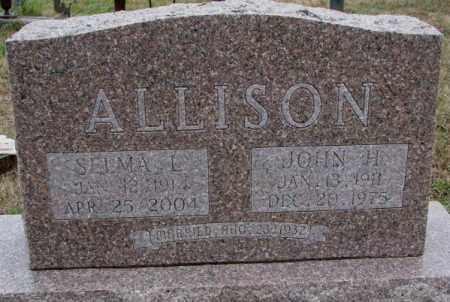 ALLISON, SELMA L. - Burt County, Nebraska | SELMA L. ALLISON - Nebraska Gravestone Photos