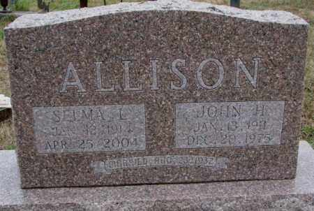 ALLISON, JOHN H. - Burt County, Nebraska | JOHN H. ALLISON - Nebraska Gravestone Photos