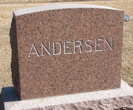 ANDERSEN, *FAMILY MONUMENT - Burt County, Nebraska | *FAMILY MONUMENT ANDERSEN - Nebraska Gravestone Photos