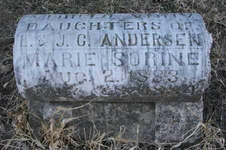 ANDERSEN, MARIE SORINE - Burt County, Nebraska | MARIE SORINE ANDERSEN - Nebraska Gravestone Photos