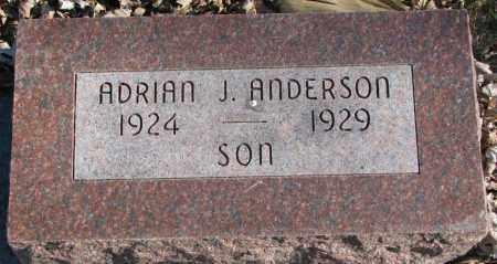 ANDERSON, ADRIAN J. - Burt County, Nebraska | ADRIAN J. ANDERSON - Nebraska Gravestone Photos
