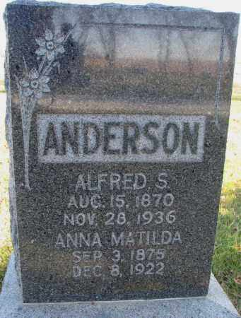 ANDERSON, ALFRED S. - Burt County, Nebraska   ALFRED S. ANDERSON - Nebraska Gravestone Photos