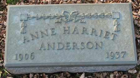 ANDERSON, ANNE HARRIET - Burt County, Nebraska | ANNE HARRIET ANDERSON - Nebraska Gravestone Photos