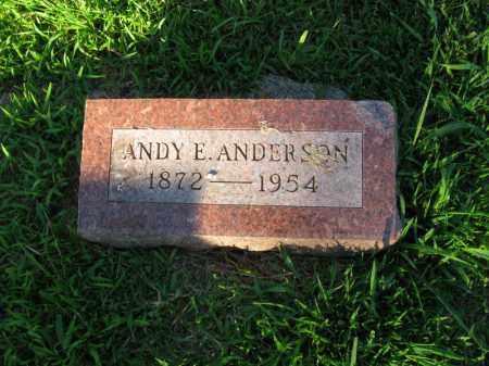 ANDERSON, ANDY E. - Burt County, Nebraska | ANDY E. ANDERSON - Nebraska Gravestone Photos