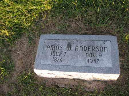 ANDERSON, AMOS W. - Burt County, Nebraska | AMOS W. ANDERSON - Nebraska Gravestone Photos