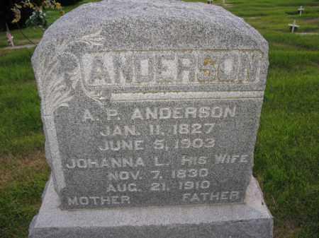 ANDERSON, A.P. - Burt County, Nebraska | A.P. ANDERSON - Nebraska Gravestone Photos
