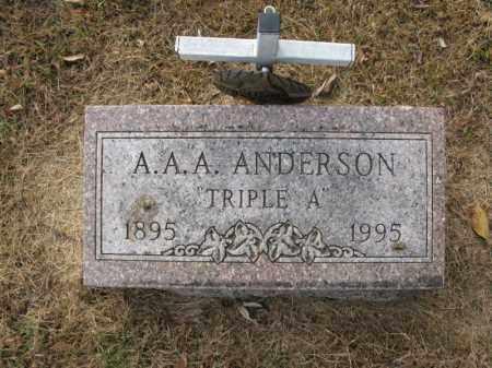 "ANDERSON, A.A.A. ""TRIPLE A"" - Burt County, Nebraska   A.A.A. ""TRIPLE A"" ANDERSON - Nebraska Gravestone Photos"