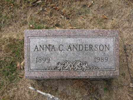 ANDERSON, ANNA C. - Burt County, Nebraska | ANNA C. ANDERSON - Nebraska Gravestone Photos