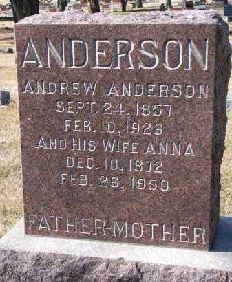 ANDERSON, ANDREW - Burt County, Nebraska | ANDREW ANDERSON - Nebraska Gravestone Photos