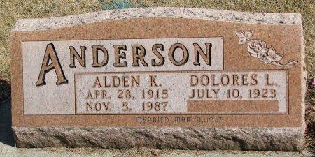 ANDERSON, ALDEN K. - Burt County, Nebraska | ALDEN K. ANDERSON - Nebraska Gravestone Photos