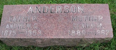 MORRELL ANDERSON, CLARA MATILDA - Burt County, Nebraska | CLARA MATILDA MORRELL ANDERSON - Nebraska Gravestone Photos