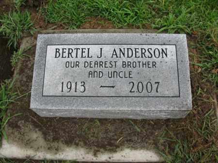 ANDERSON, BERTEL J. - Burt County, Nebraska | BERTEL J. ANDERSON - Nebraska Gravestone Photos