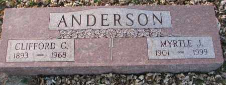 ANDERSON, MYRTLE J. - Burt County, Nebraska | MYRTLE J. ANDERSON - Nebraska Gravestone Photos