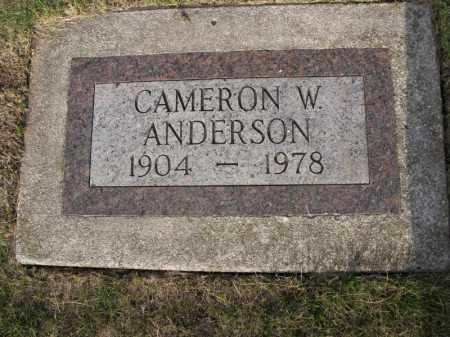 ANDERSON, CAMERON W. - Burt County, Nebraska | CAMERON W. ANDERSON - Nebraska Gravestone Photos