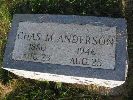 ANDERSON, CHAS. M. - Burt County, Nebraska | CHAS. M. ANDERSON - Nebraska Gravestone Photos