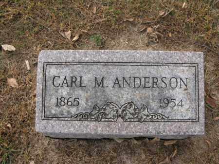 ANDERSON, CARL M. - Burt County, Nebraska   CARL M. ANDERSON - Nebraska Gravestone Photos