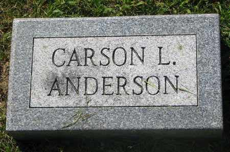ANDERSON, CARSON L. (FOOTSTONE) - Burt County, Nebraska | CARSON L. (FOOTSTONE) ANDERSON - Nebraska Gravestone Photos