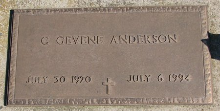 ANDERSON, C. GEVENE - Burt County, Nebraska | C. GEVENE ANDERSON - Nebraska Gravestone Photos