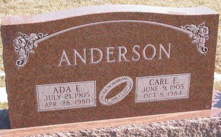 ANDERSON, CARL E. - Burt County, Nebraska | CARL E. ANDERSON - Nebraska Gravestone Photos